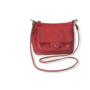 REFURBISHED COACH Poppy Coral Leather Crossbody